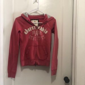 Abercrombie & Fitch zip up hoodie, large